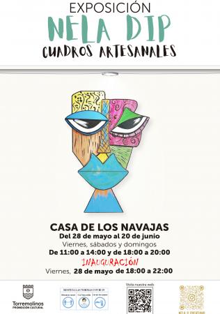Inauguración de exposición de cuadros artesanales - Nela Dip