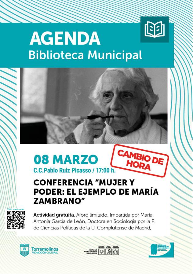 """CONFERENCIA """"MUJER Y PODER. EL EJEMPLO DE MARÍA ZAMBRANO"""""""