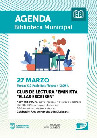Club de Lectura Feminista - Ellas escriben en Marzo