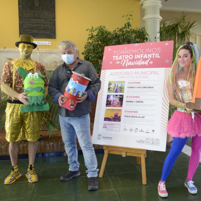 'Cubisú y los Cubículos' llegan a Torremolinos para enseñar al público infantil la importancia del reciclaje