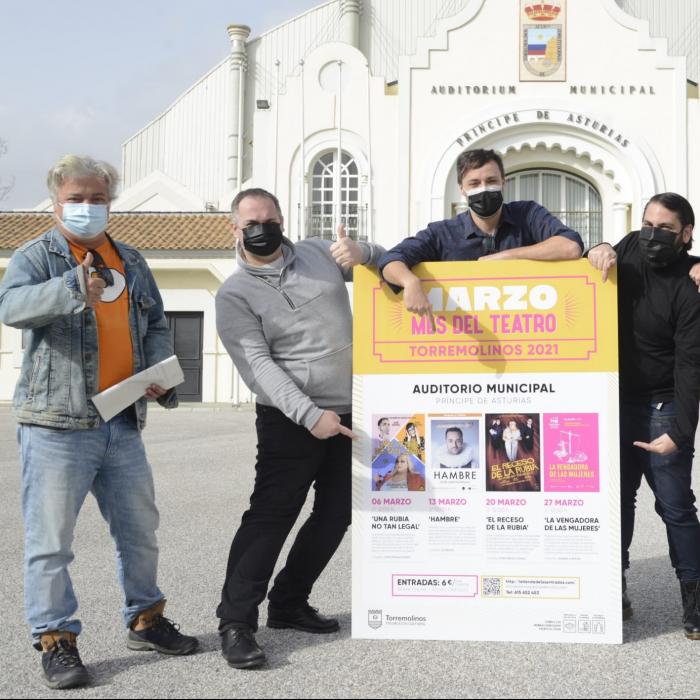 Marzo será el mes del teatro en el Auditorio Municipal Principe de Asturias de Torremolinos
