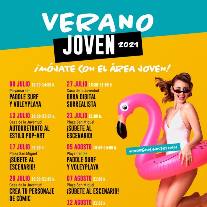 El Verano Joven de Torremolinos ofrece clases gratuitas de Paddle Surf, Voley Playa y talleres creativos
