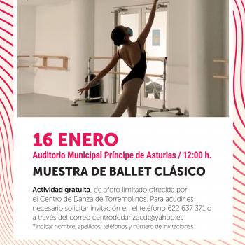 El Centro de Danza de Torremolinos ofrece una muestra de ballet clásico el próximo 16 de enero