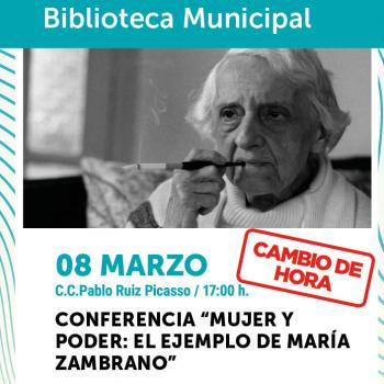 Torremolinos conmemora el Día de la Mujer con la conferencia 'Mujer y poder: el ejemplo de María Zambrano'