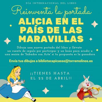 La creatividad y la imaginación brillan en los dibujos participantes en el concurso 'Reinventa la portada de Alicia en el país de las maravillas'
