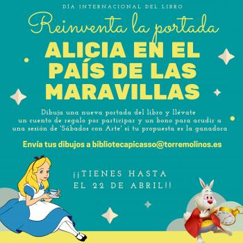 El 23 de abril, Cultura entrega los premios del concurso 'Reinventa la portada de Alicia en el país de las maravillas'
