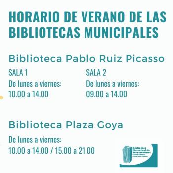 Las bibliotecas municipales de Torremolinos adoptan el horario de verano